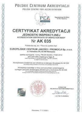 certyfikatAK035